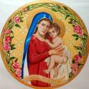 A mosaic of Our Lady of Consolation is being made for the Columbarium Gazebo's back wall.